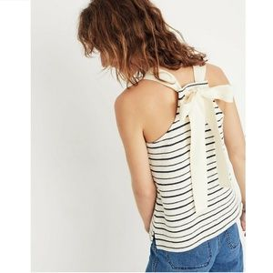 Madewell Tie Bow Back Tank Top M